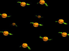 3D Flying Pumpkins
