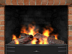 3D Cozy Fireplace