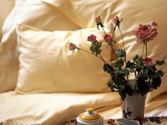 Roses Beside a Bed
