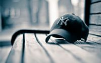 Baseball Hat on Bench