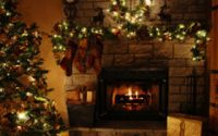 Fireplace Wreath Tree