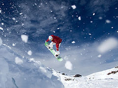 Flying Skiier