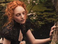 Red-Haired Model