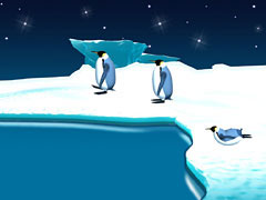 Animated Penguin March