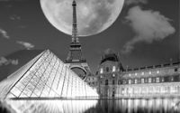 Eiffel Tower and Louvre