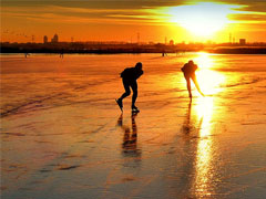Skating on Frozen Pond